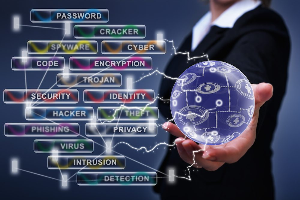 Social networking and cyber security concept