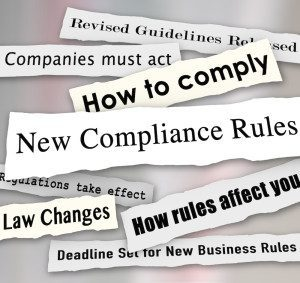 Compliance Headlines Newspaper Torn New Business Regulations Comply
